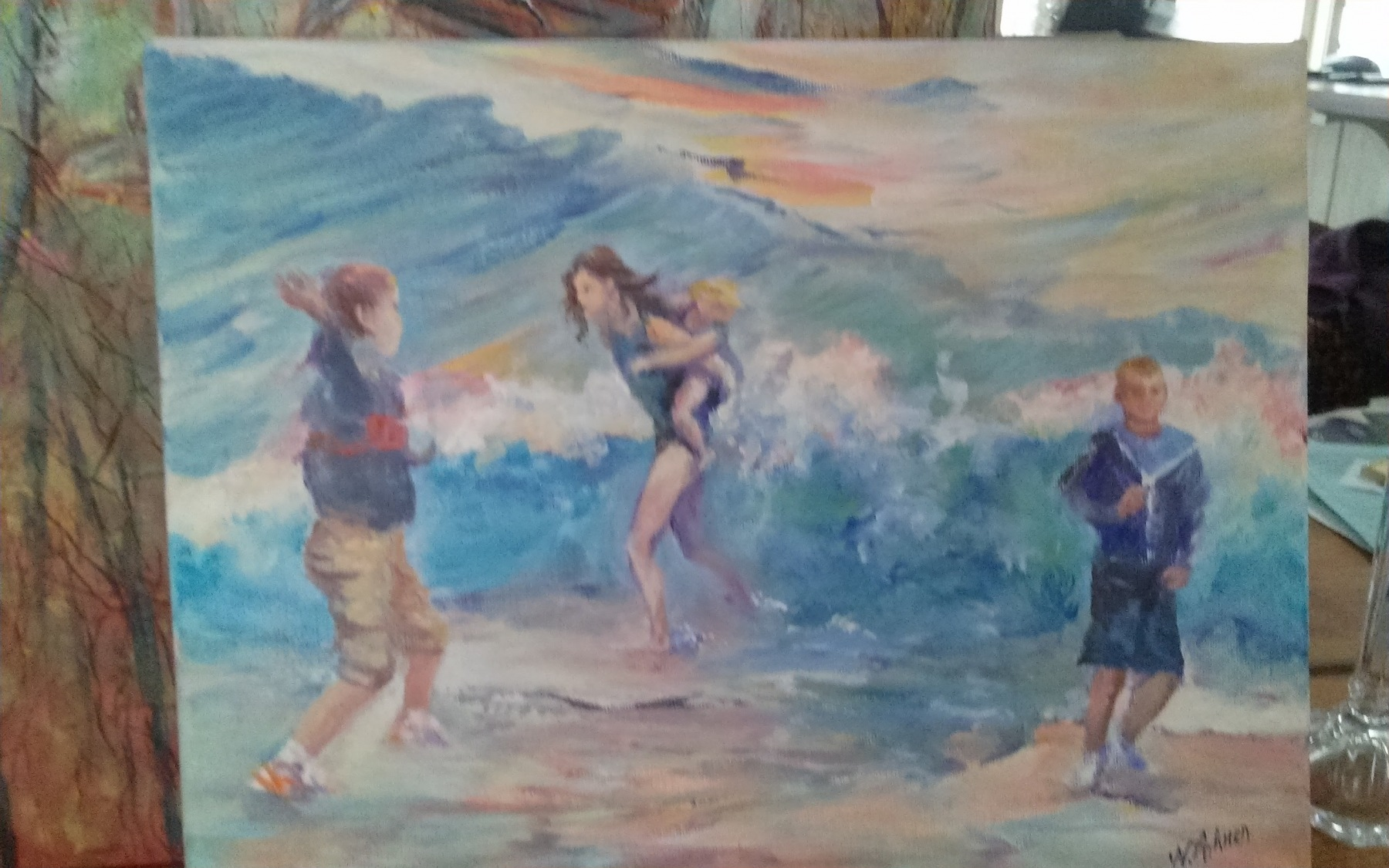 high tide fun, Oil