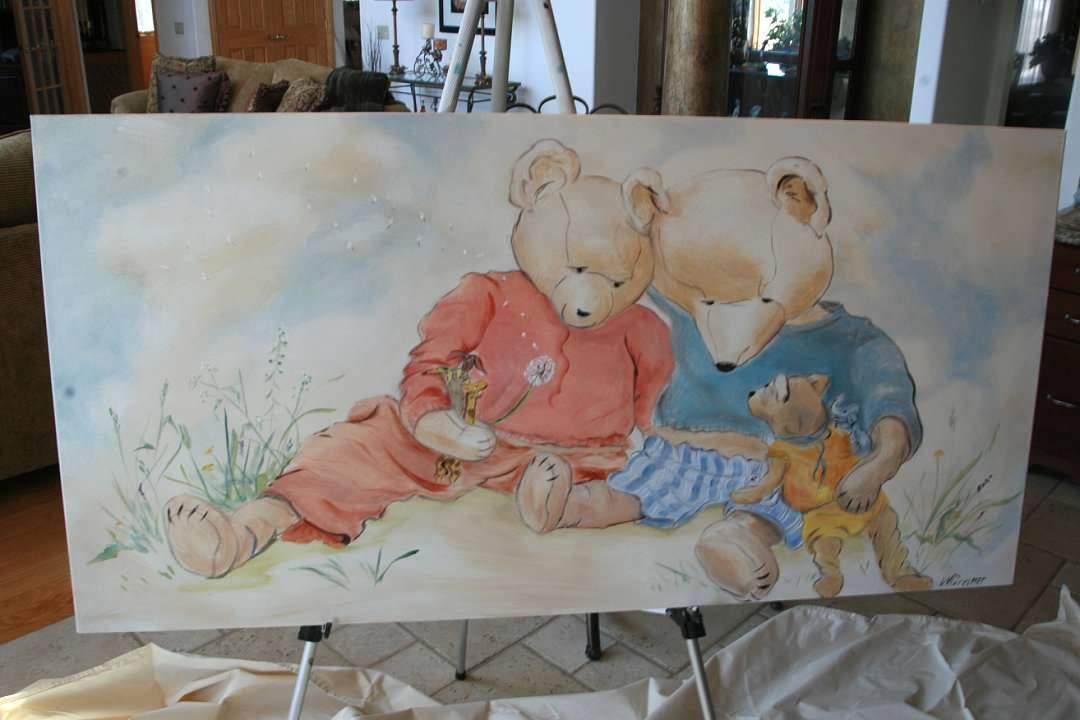 Teddy, Acrylic