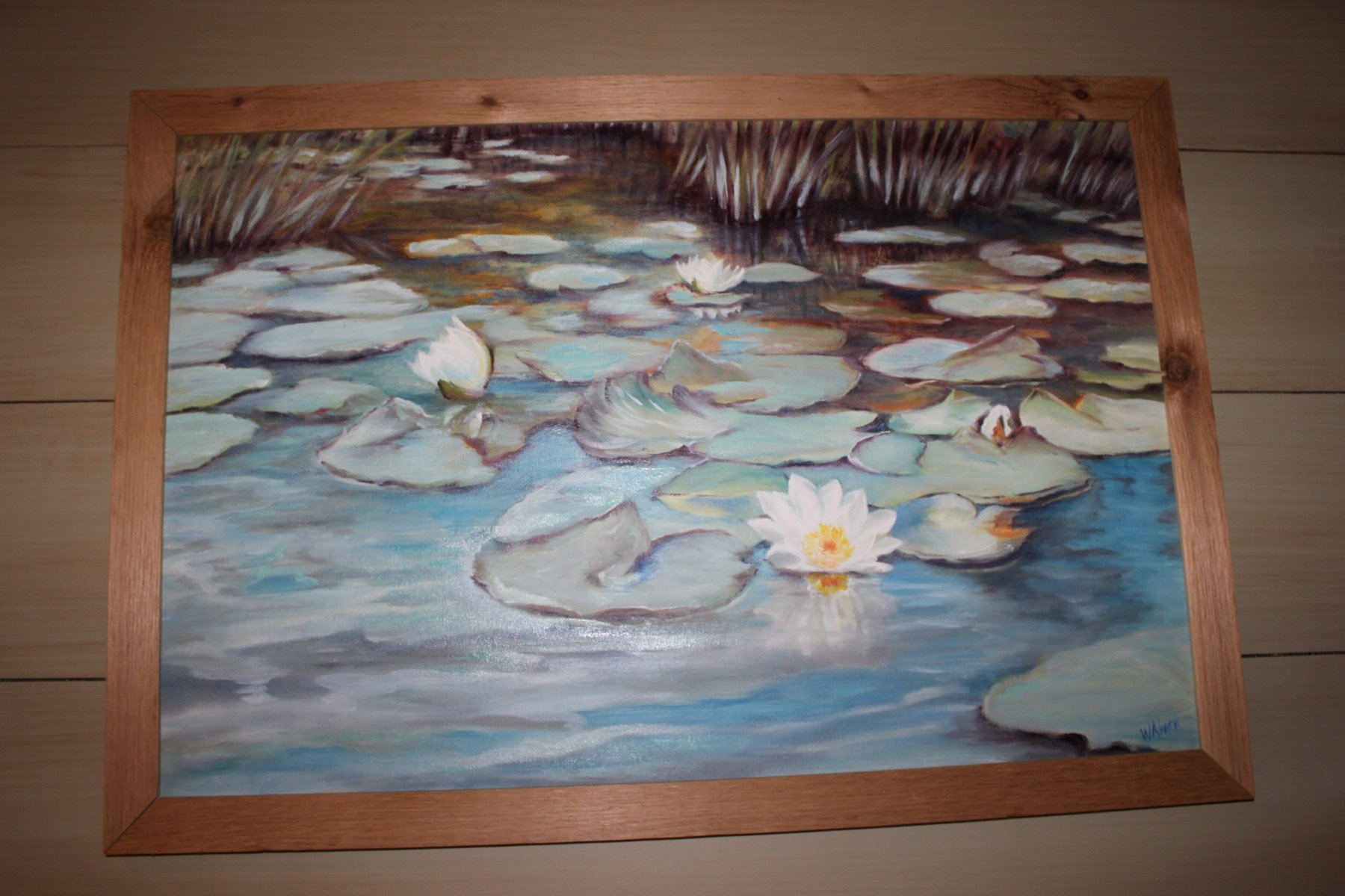 Water lilies, oil